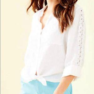 Lily Pulitzer Sea View Linen Shirt